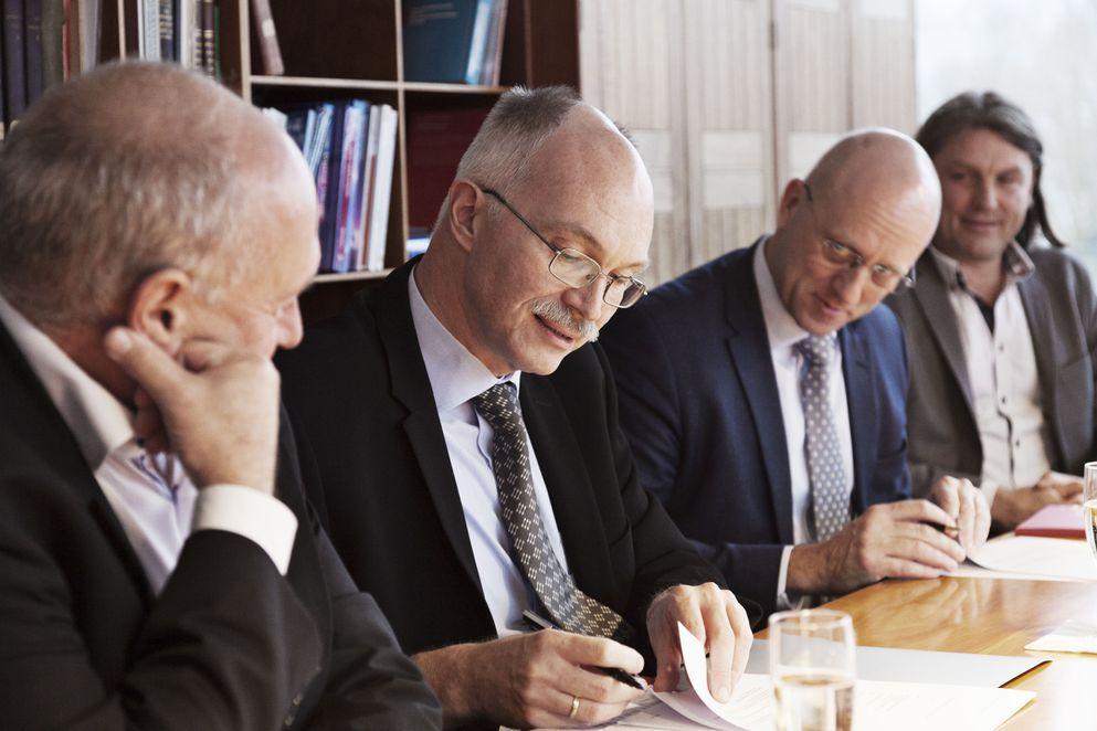 Kontraktunderskrift DTU BAM- Anders Bjerklev og Bo Svendsen